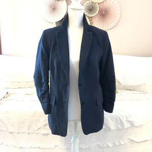 Michael Kors Linen Blazer with Pleated Arm Detail